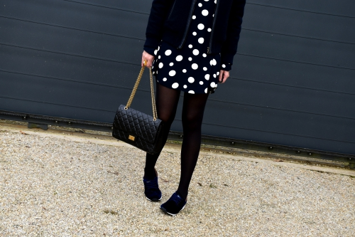 robe pois zara,zara,chanel,blog mode,jimmy choo,apc,movel shoes,2.55 chanel