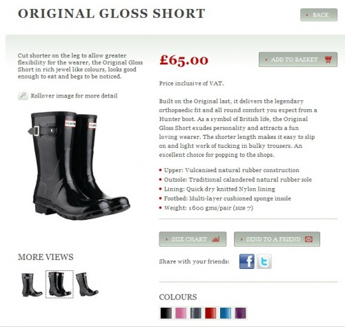 hunter wellies original gloss short,hunter,hunter wellies,london,shopping,shopping à londres,liberty london,rain shoes,bottes en caoutchouc stylées,j brand