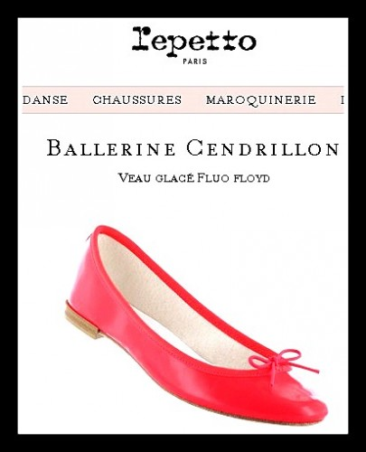 repetto,cendrillon repetto,blog mode,veau glacé fluo floyd,repetto veau glacé fluo floyd