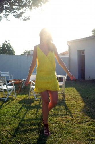 ba&sh,robe delphine ba&sh,robe dentelle jaune ba&sh,blog mode