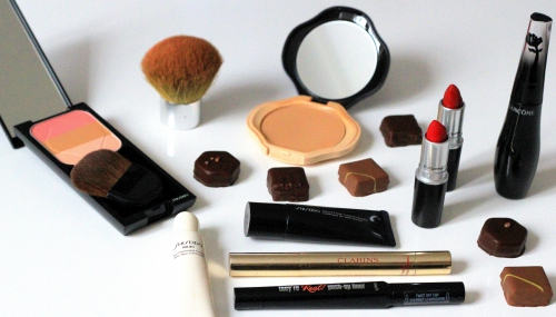 la maison du chocolat,blog beauté,rehausseur visage trio shiseido,soin correcteur yeux ibuki shiseido,compact naturel perfecteur shiseido,they're real push up liner benefit,grandiôse lancôme,mascara grandiôse lancôme,correcteur de teint soyeux shiseido,eclat minute clarins,ruby woo mac,russian red mac
