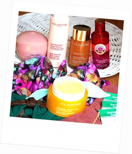 blog mode,blog beauté,blog voyages,gingembre rouge roger & gallet,gommage tonic corps clarins,lait hydratant corps soyeux clarins,albertine,maillots de bain albertine,bikinis albertine,huile corps irisée clarins,perfecetur concentré minceur shiseido,somatoline cosmetic