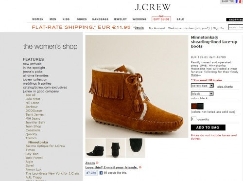 minnetonka® shearling-lined lace-up boots,new york,shopping,minnetonka,garance doré,j crew,travel,bon plan mode,minnetonka by j crew