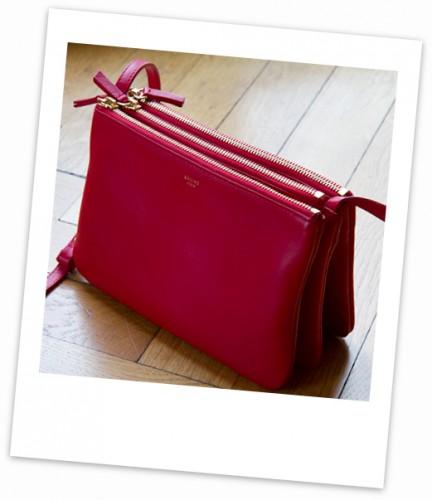 céline,trio bag céline,trio bag rouge céline,blog mode,trapèze céline,trapèze vert amande céline