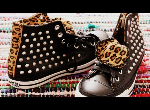 converse all star leather hi black stud leopard exclusive office,office uk,converse,converse all star leather hi black stud leopard,london,shopping,blog mode,blog voyages,shopping à londres,converses à clous,converses léopard,converse léopard et clous