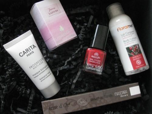 glossybox,blog beauté,paris,carita,jeanne lanvin,florame,terre d'oc