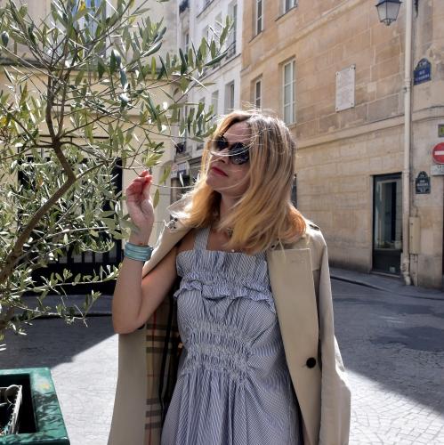 comptoir des cotonniers,carven,blog mode,karine arabian,robe smockée