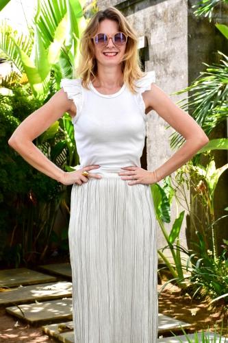 blog mode,metallic skirt,silver skirt,jupe métallisée
