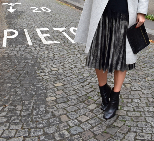 zara,manteau long gris,blog mode