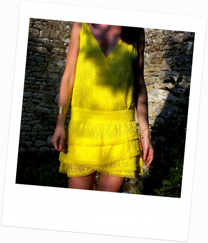 ba&sh,robe delphine ba&sh,robe dentelle jaune ba&sh,blog mode