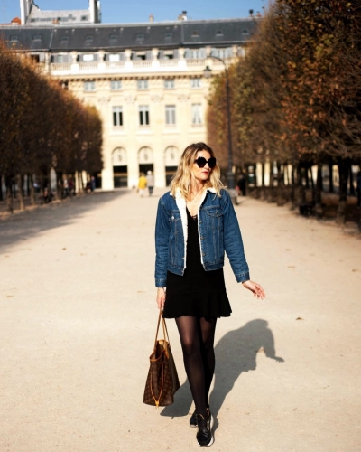 blog mode,sherpa jacket,veste en jean fourrée,fam jeans