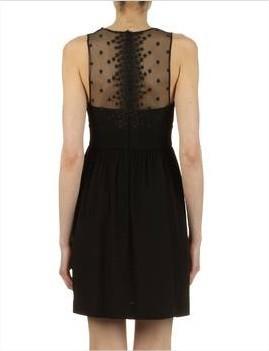 shopping,blog mode,sandro,robe dentelle étoiles noir