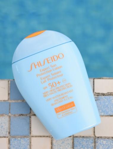 expert solaire lait protecteur spf50 peaux sensibles wetforce shiseido,shiseido,blog beauté,protection solaire shiseido