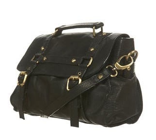 Topshop medium buckle leather shoulder bag.jpg